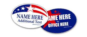Political Oval Stickers