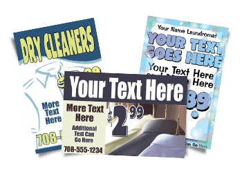 Dry Cleaner Signs