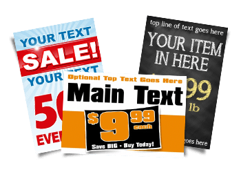 Signs with Prices, Percentages, & Text