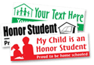 Honor Student Home School Stickers