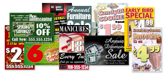 Examples of multiple corporate template signage.