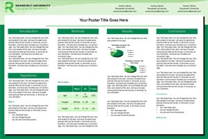 roosevelt university research poster templates  makesigns, Powerpoint