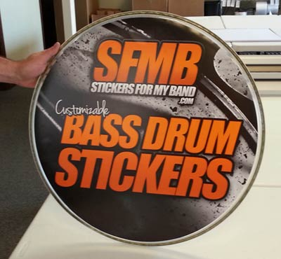 About Our Bass Drum Stickers