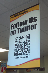 Grocery Store Sign Promoting Social Media