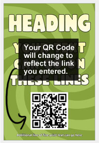 Your QR Code will change to reflect the link you entered