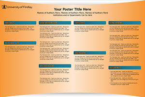 University Of Findlay Research Poster Templates Makesigns