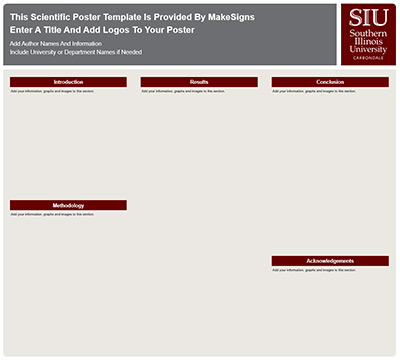 Southern Illinois University Carbondale Research Poster