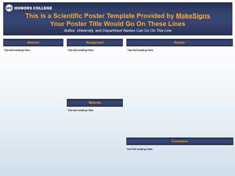 University of Illinois- Chicago Template #