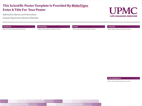 University of Pittsburgh Medical Center Template #