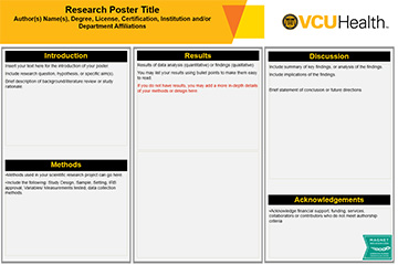 VCU Health Research Poster Templates | MakeSigns