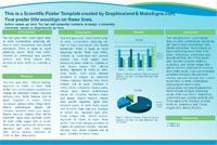 Scientfic poster powerpoint templates makesigns scientific poster blue green wave toneelgroepblik Images