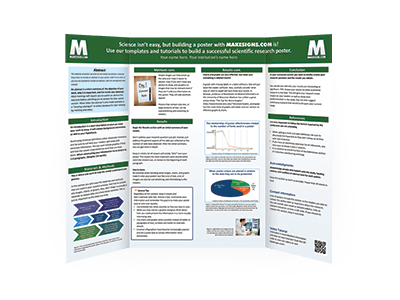 Tri-Fold Mounted Scientific Posters | MakeSigns