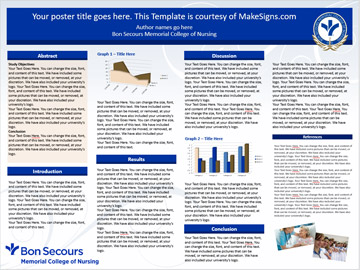 bon secours memorial college of nursing research poster templates, Presentation templates