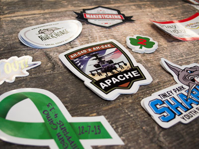About Our Custom Stickers MakeStickerscom - What are custom die cut stickers