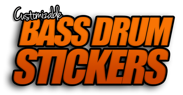 Customizable bass drum stickers