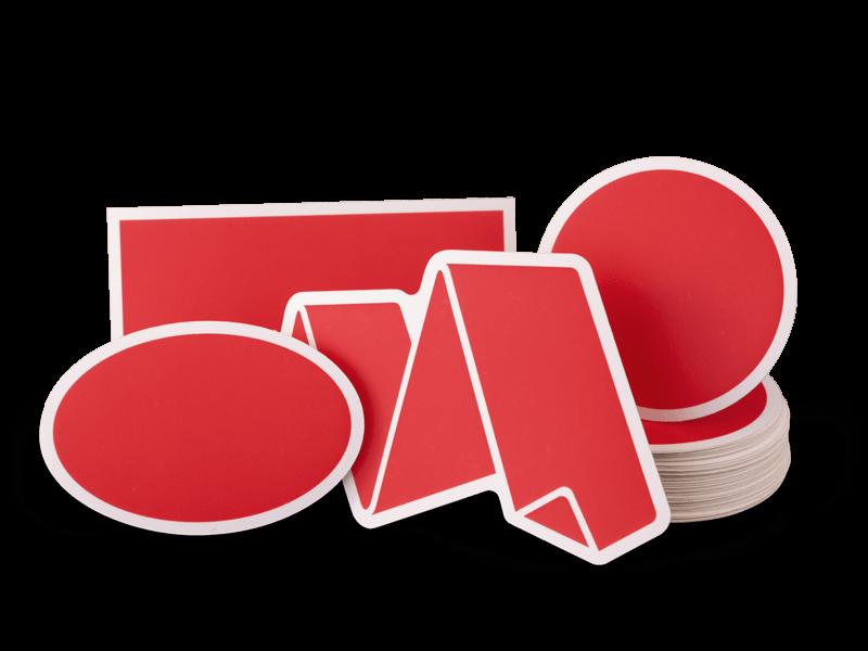 Business Logo Product Labels Laminated Waterproof Custom Vinyl Stickers
