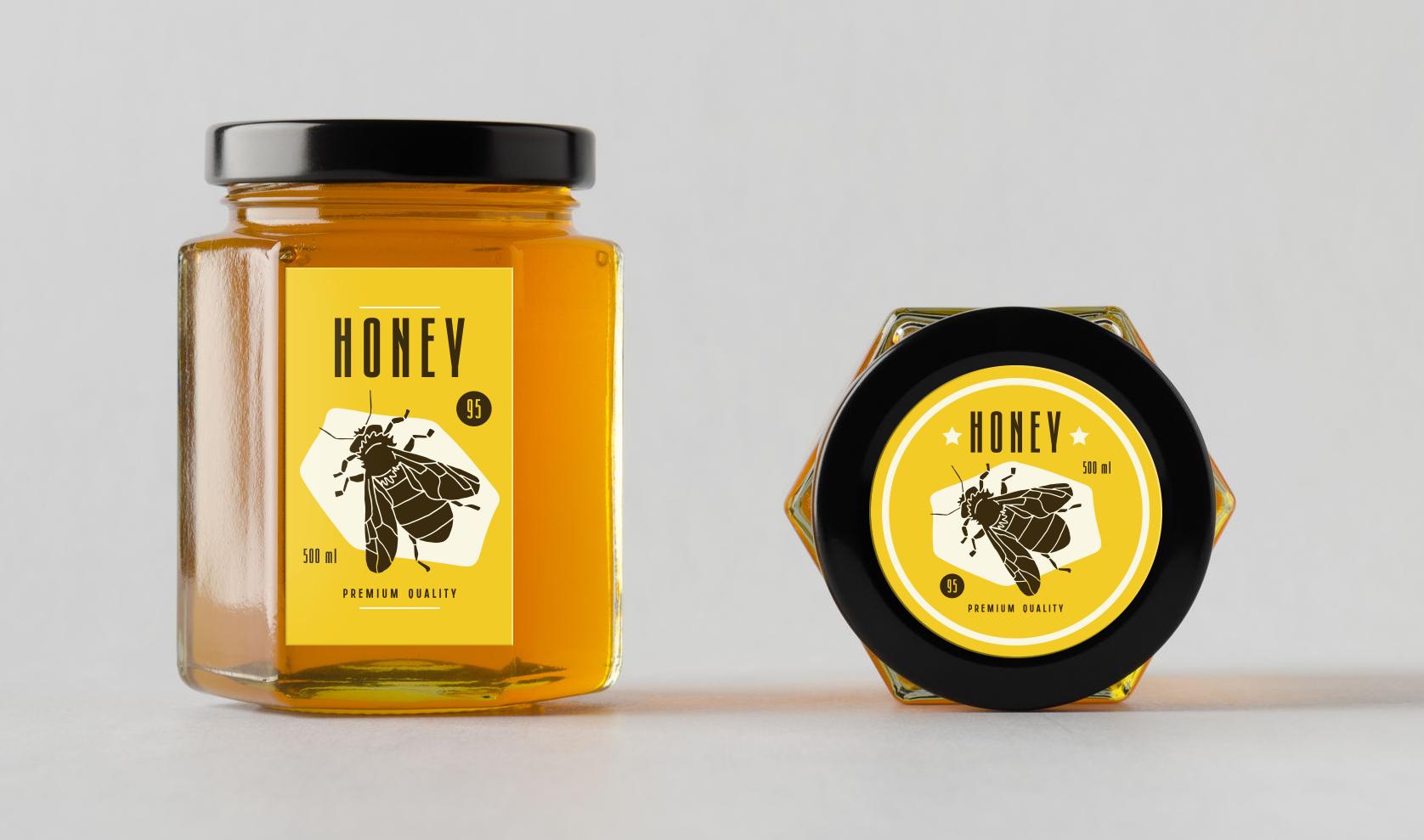 Honey Labels  Detail Shot