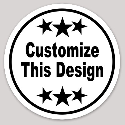 circle sticker with star border makestickers