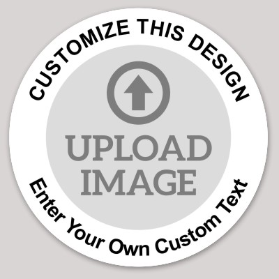 Circle Sticker With Photo Upload MakeStickers - Round sticker template