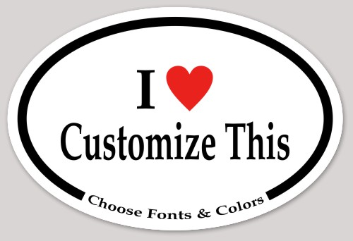 Most Popular Bumper Sticker Templates MakeStickers - Bumper sticker template
