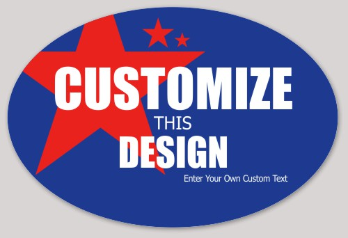 Political oval sticker with large star makestickers com