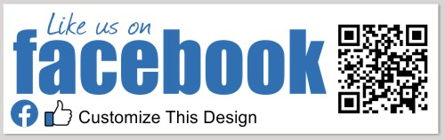 Bumper Sticker with Social Media and QR Code | MakeStickers