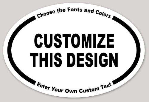 Most popular bumper sticker templates makestickers for Oval bumper sticker template