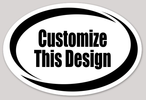 Oval stickers makestickers for Oval bumper sticker template
