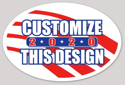 Oval sticker about patriotic political stars stripes election candidate vote oval makestickers com